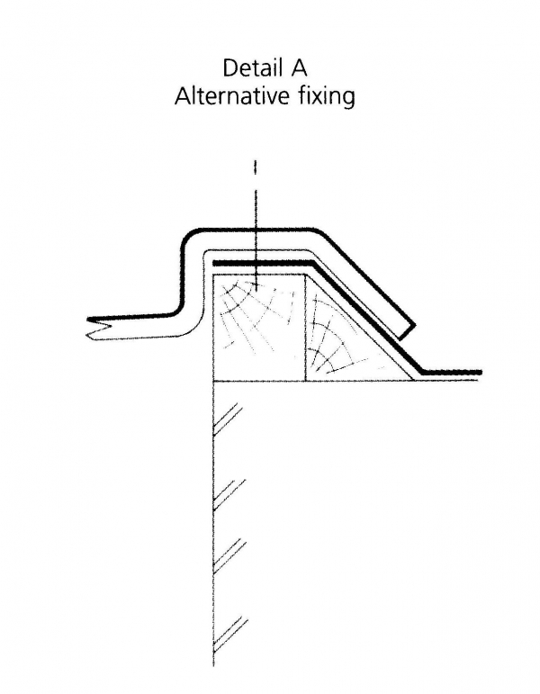Alternative fixing for Ref 25 cornice