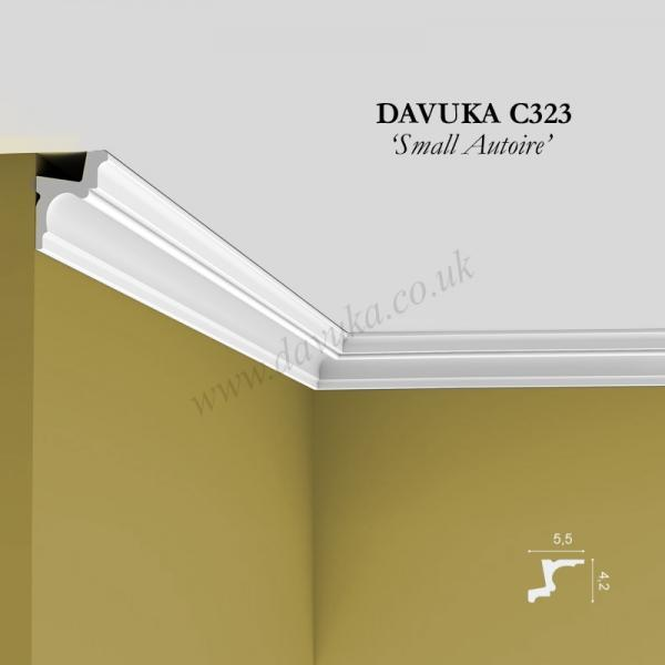 Installed length of C323 cornice